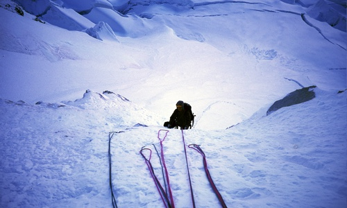 Fin apinklätterled, Cordillera Blanca, Peru - alpinklättring
